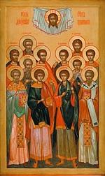 Икона Святых Двенадцати Бессребренников и Целителей в храме Спаса Нерукотворного Образа В Гирееве (Перове)