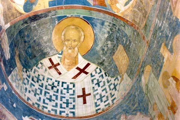Фреска с изображением Николая Чудотворца